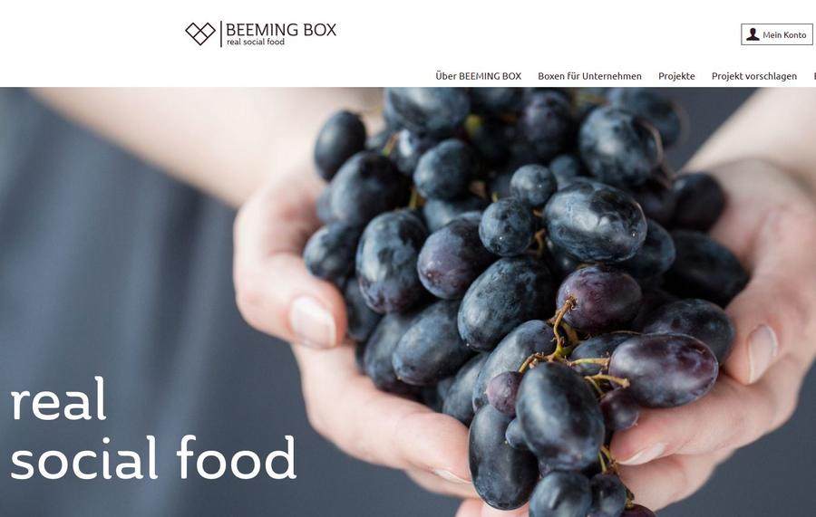 Beemingbox homepage